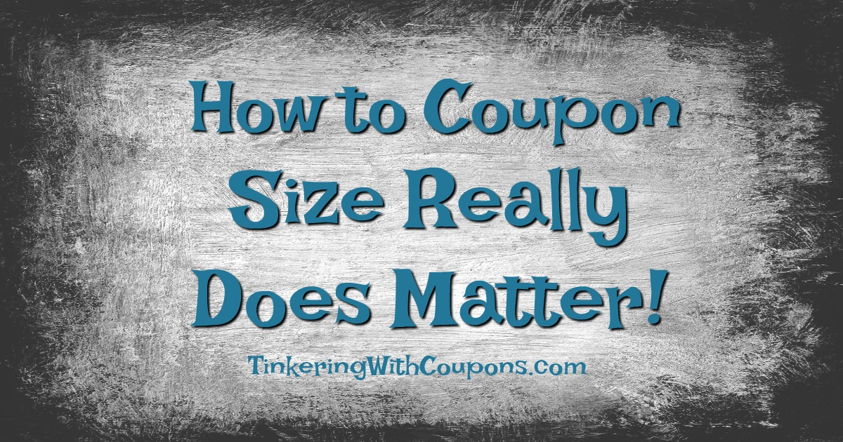 How To Coupon Size Does Matter Tinkering With Coupons